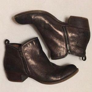 Lucky Brand Bartalino Bronze Double Zip Boots sz 8